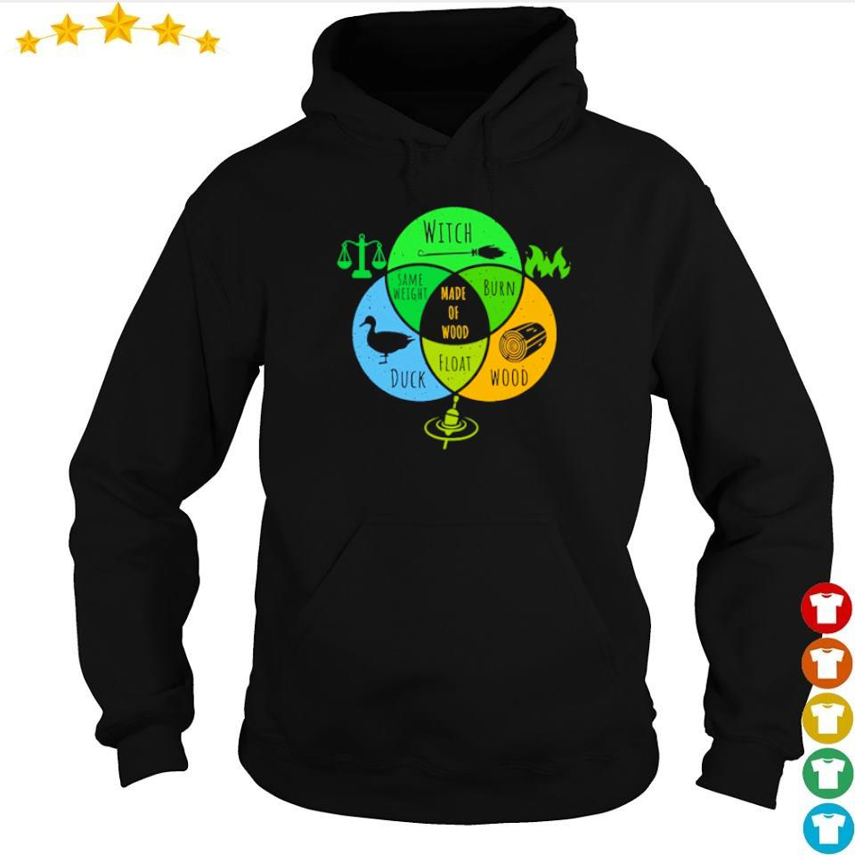 Witch duck wood same weight made of wood burn and float s hoodie