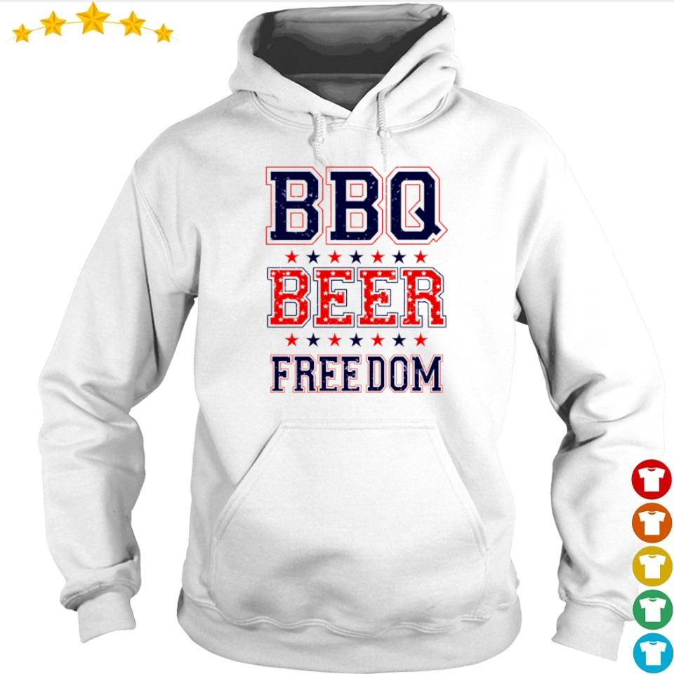 American BBQ beer and freedom s hoodie