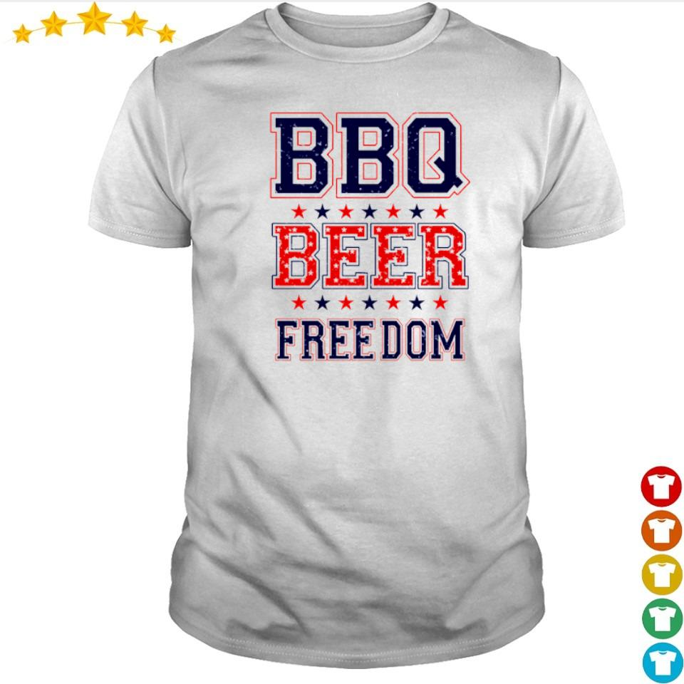 American BBQ beer and freedom shirt