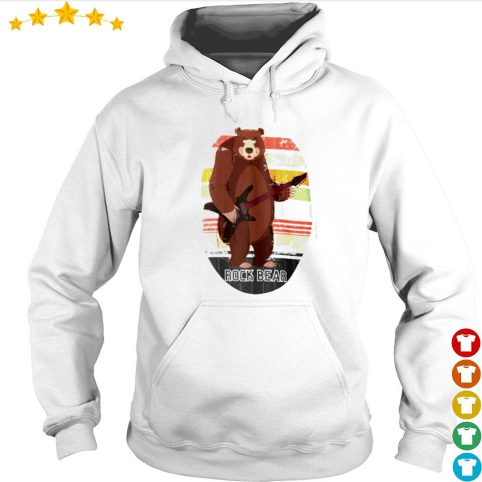 Bear rock n' roll retro vintage s hoodie