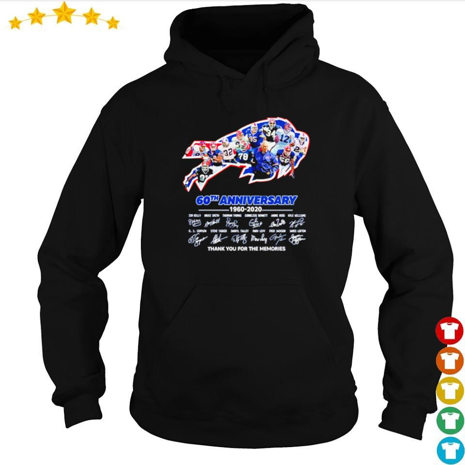 Buffalo Bills 60th anniversary 1960 2020 thank you for the memories s hoodie