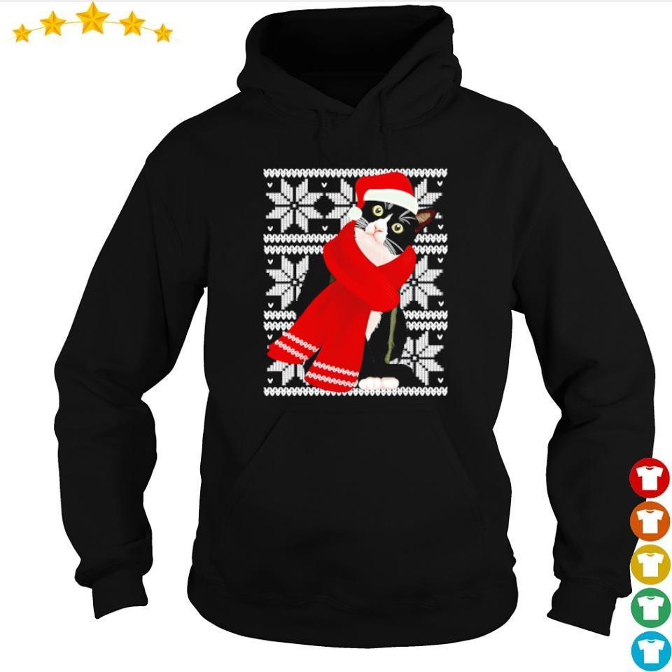 Crazy black cat merry Christmas sweater hoodie