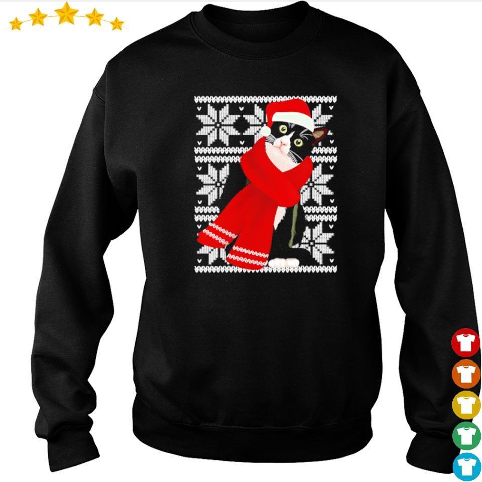 Crazy black cat merry Christmas sweater