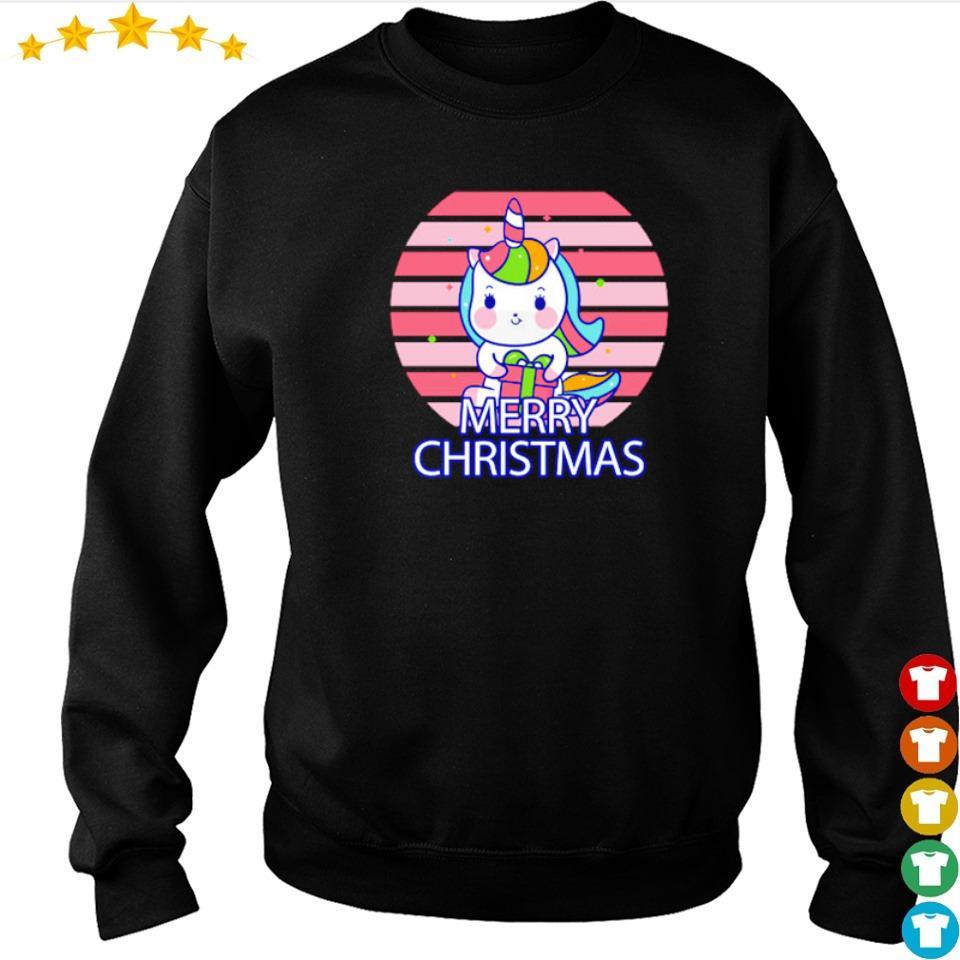 Cute chibi unicorn merry Christmas sweater