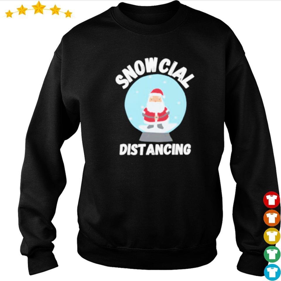 Cute Santa Claus snowcial distancing Christmas sweater