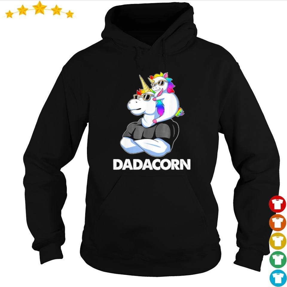Dadacorn unicorn dad and baby s hoodie