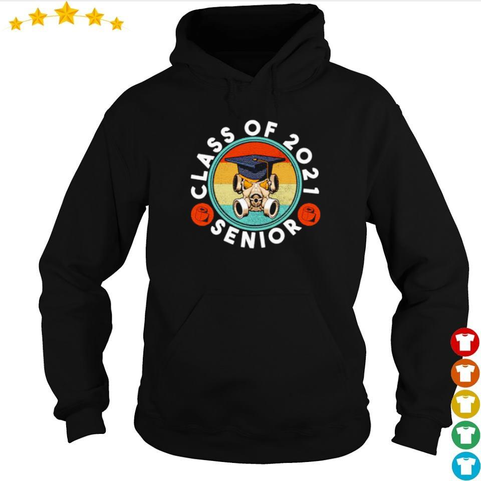 Facemask class of 2021 senior vintage s hoodie