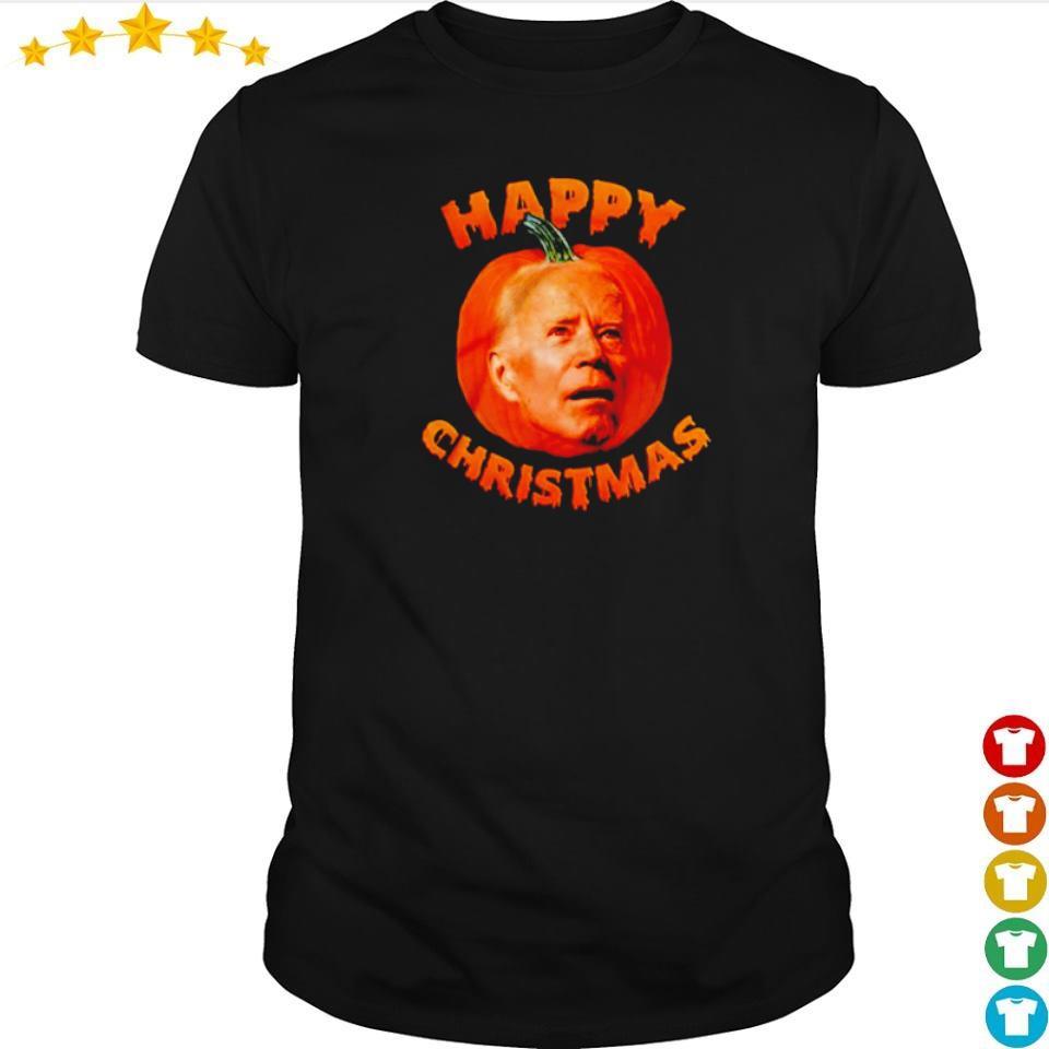 Happy Joe Biden pumpkin Christmas shirt