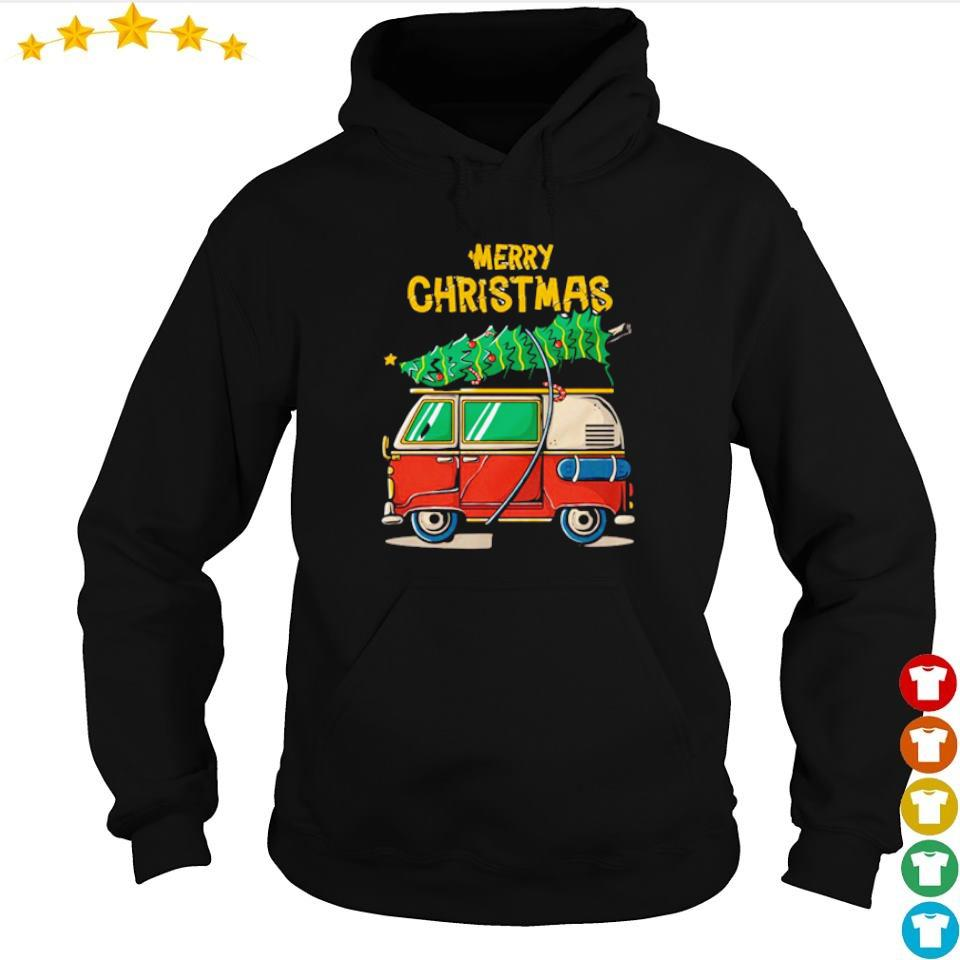 Hippie car merry Christmas 2020 s hoodie