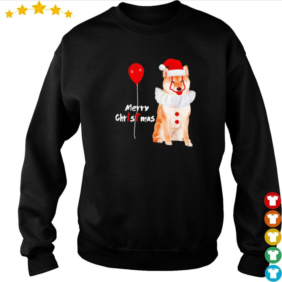Horror Akita Shiba Pennywise merry Christmas sweater
