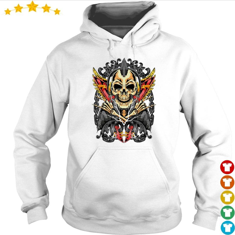 Horror goth rock skull rocker s hoodie