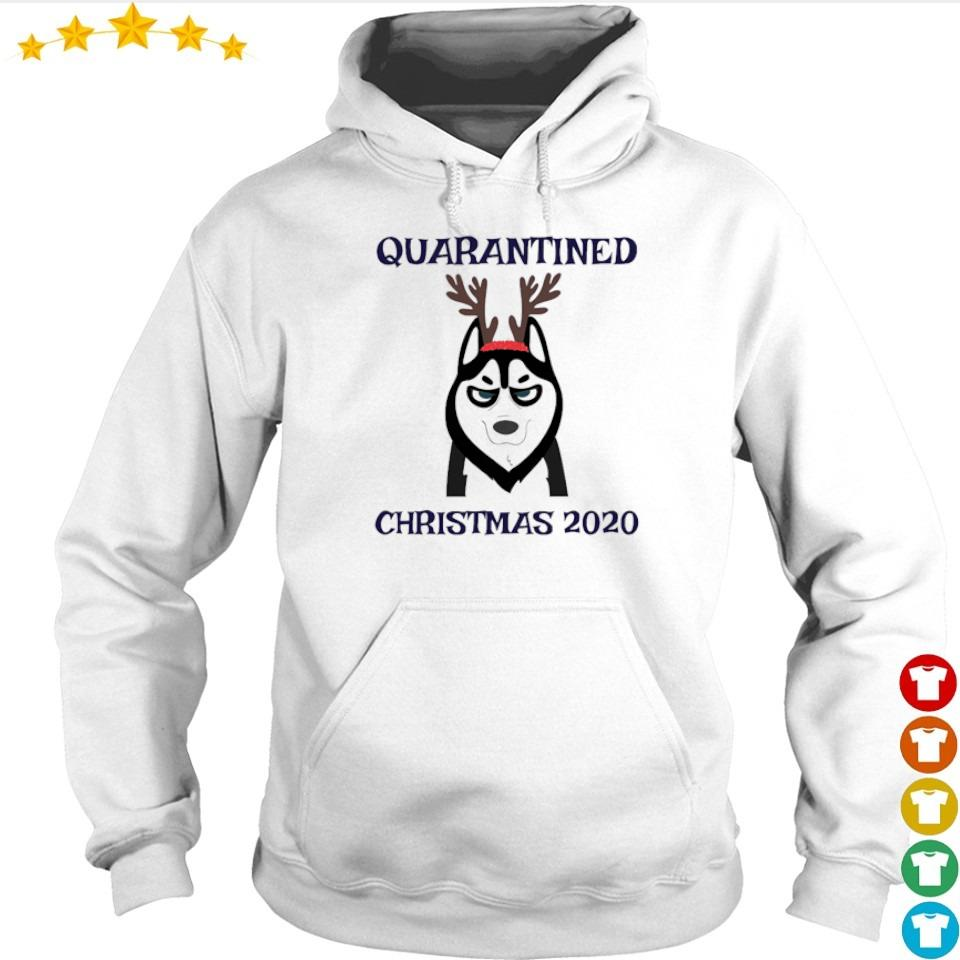 Husky quarantined Christmas 2020 s hoodie