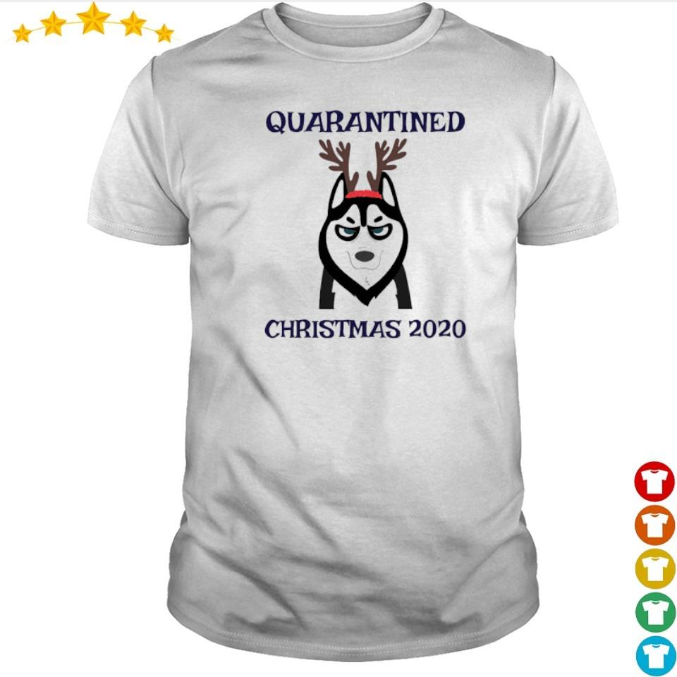 Husky quarantined Christmas 2020 shirt