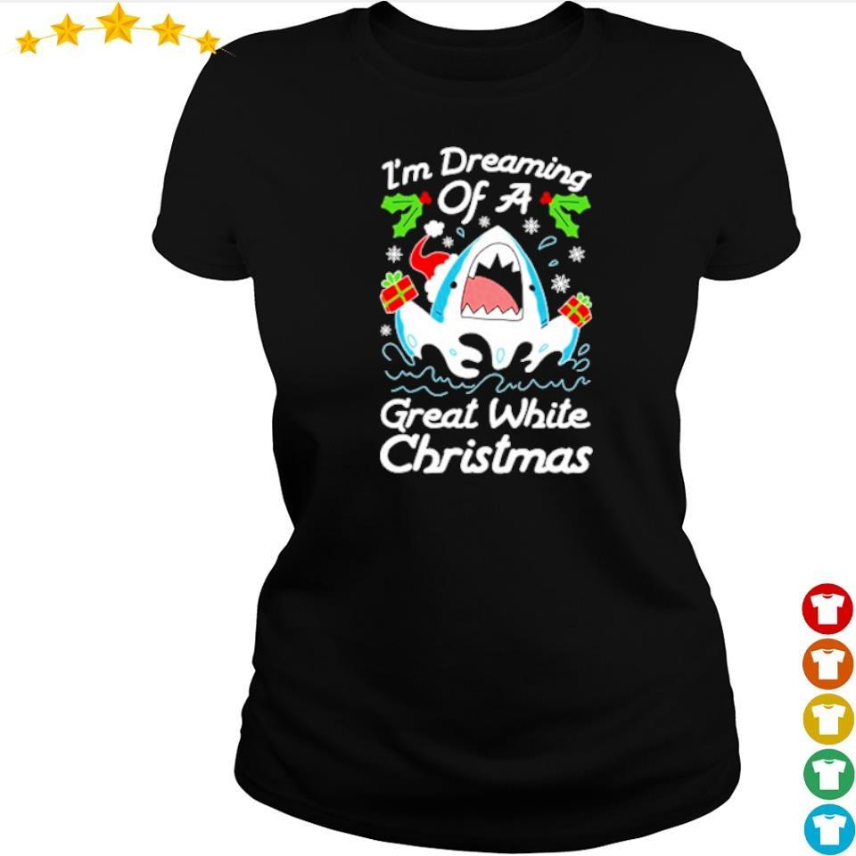 I'm dreaming of a great white Christmas sweater ladies tee
