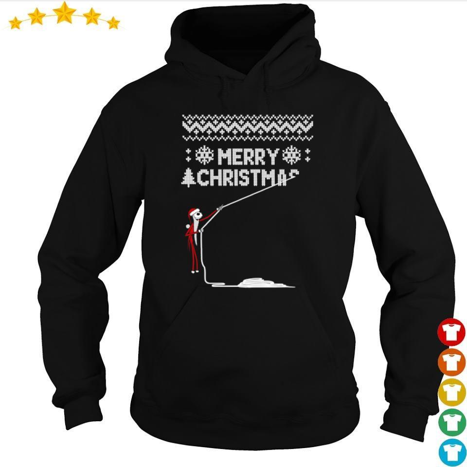 Jack Skellington stealing merry Christmas sweater hoodie