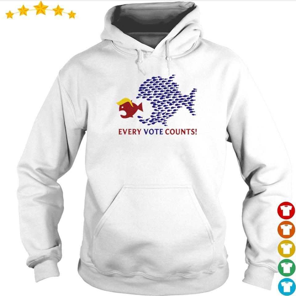 Joe Biden vs Donald Trump every vote counts s hoodie
