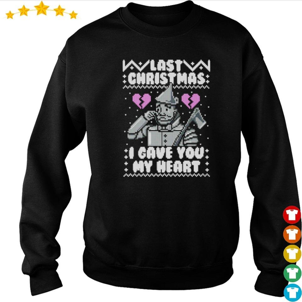 Last Christmas I gave you my heart sweater