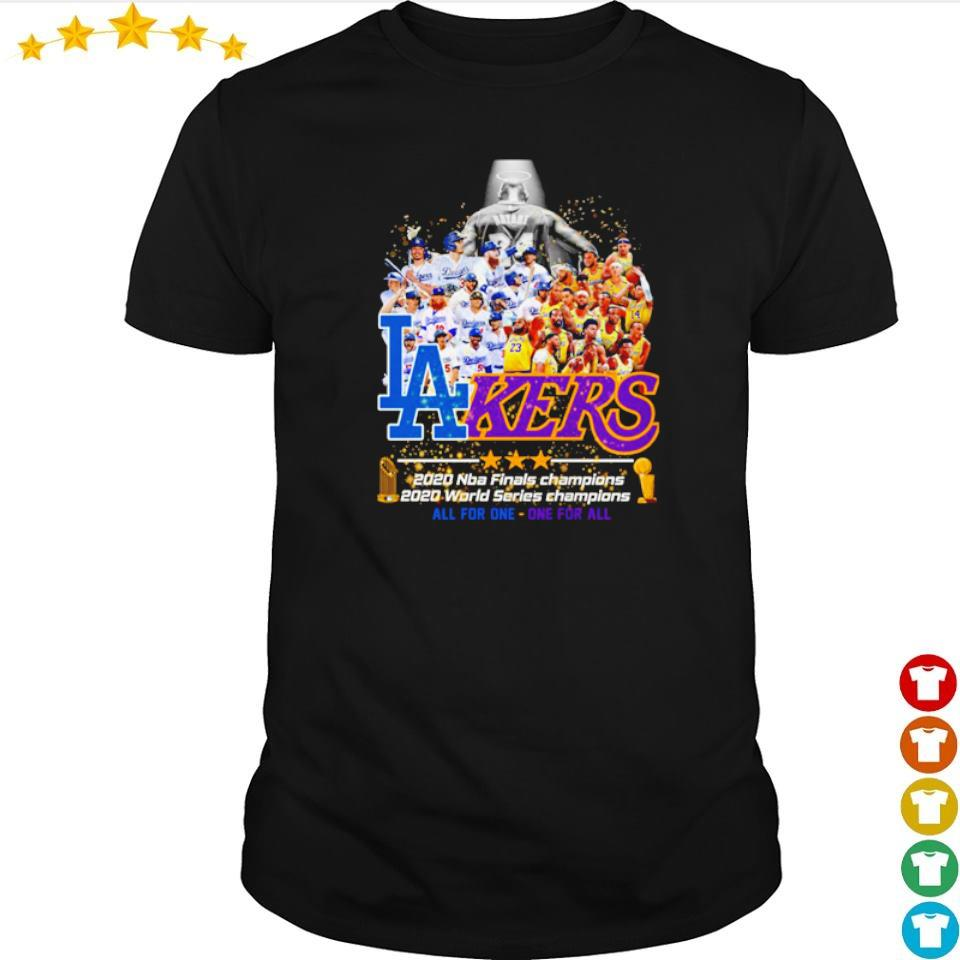 Los Angeles Dodgers and Lakers 2020 world series champions shirt