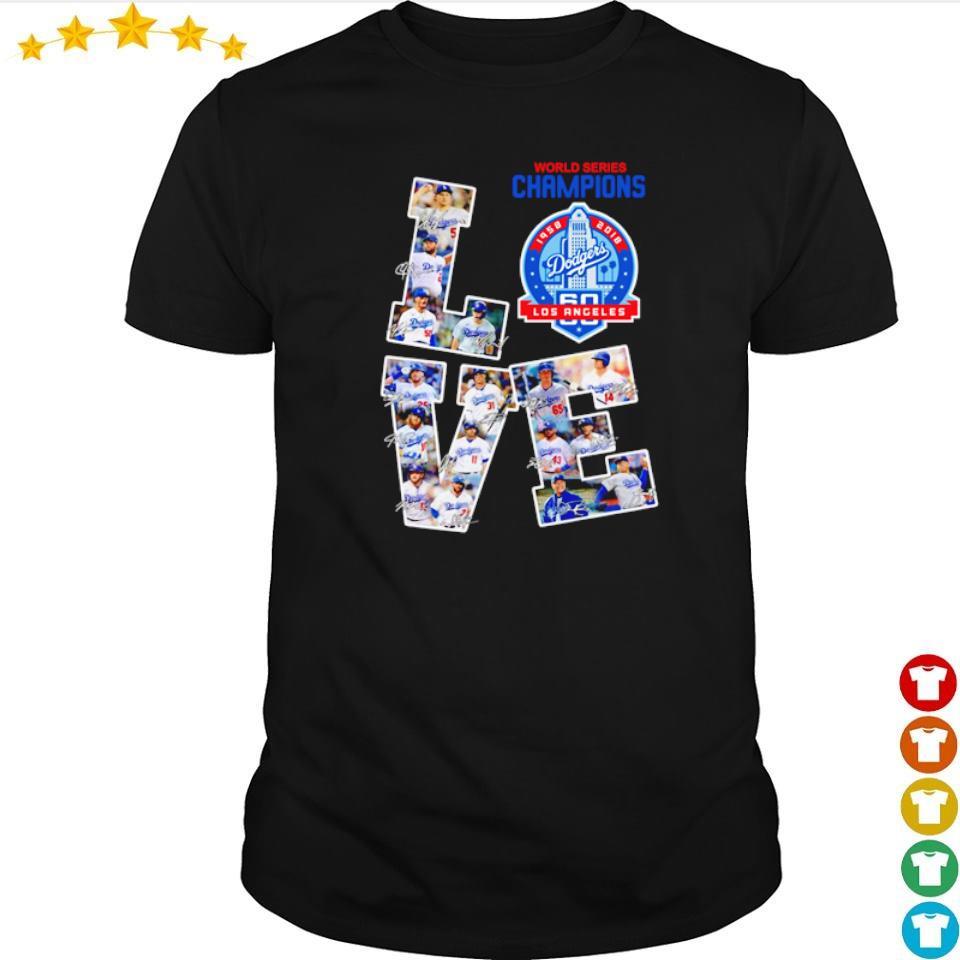 Love Los Angeles Dodgers world series champions shirt