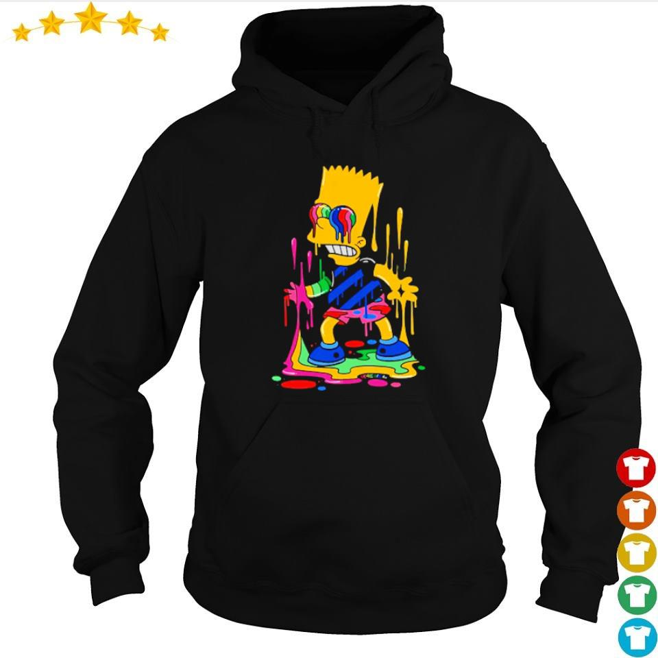 Official Bart Simpson trippy s hoodie