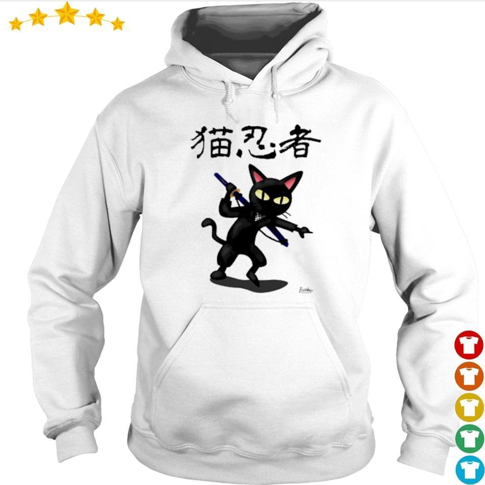 Official ninja black cat s hoodie