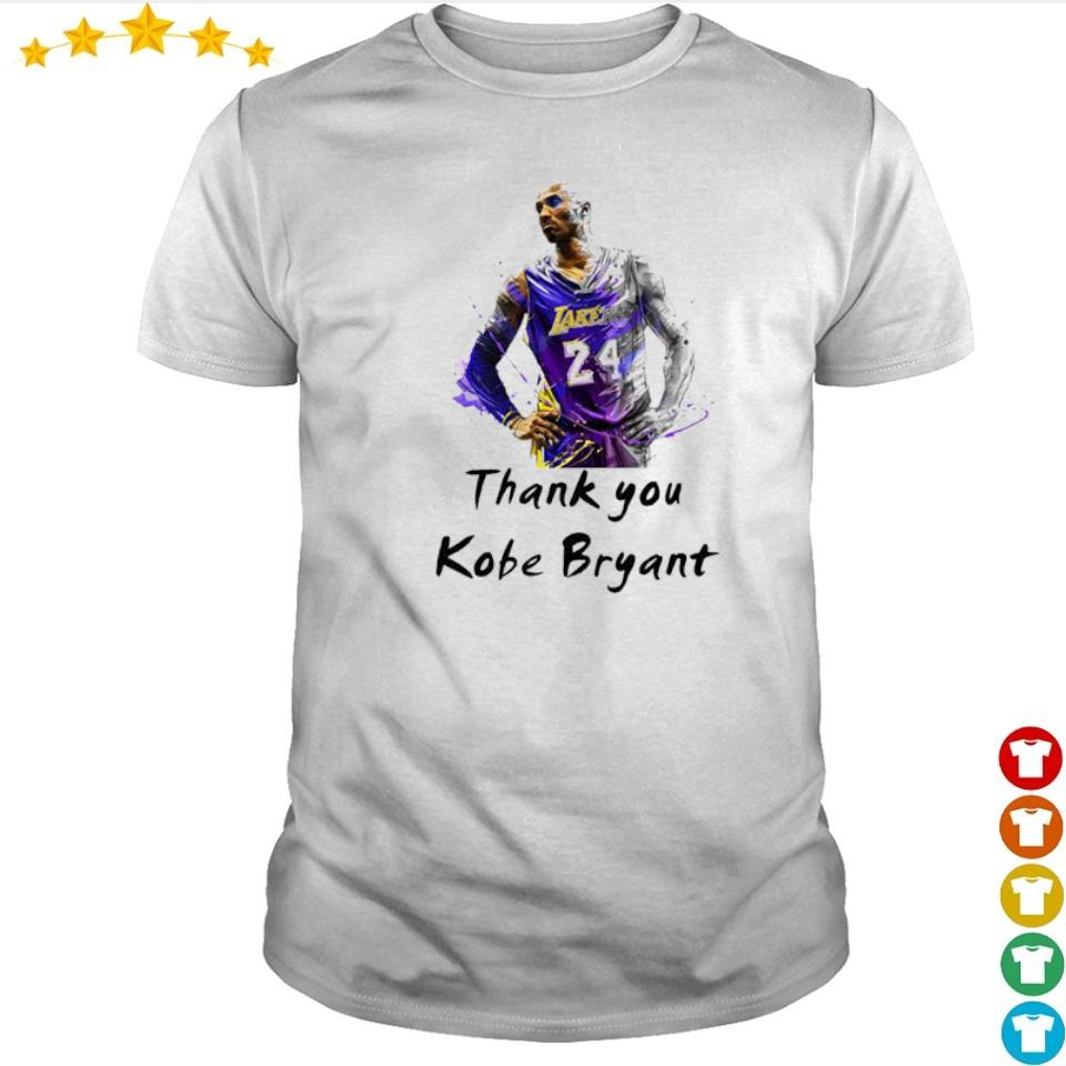 Official RIP Kobe Bryant thank you shirt
