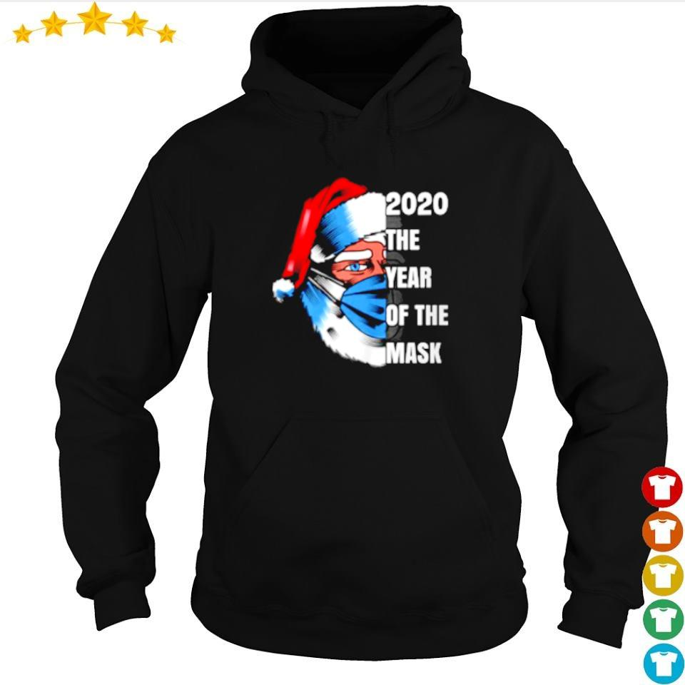 Santa Claus 2020 the year of the mask merry Christmas sweater hoodie