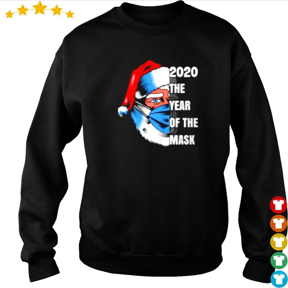 Santa Claus 2020 the year of the mask merry Christmas sweater