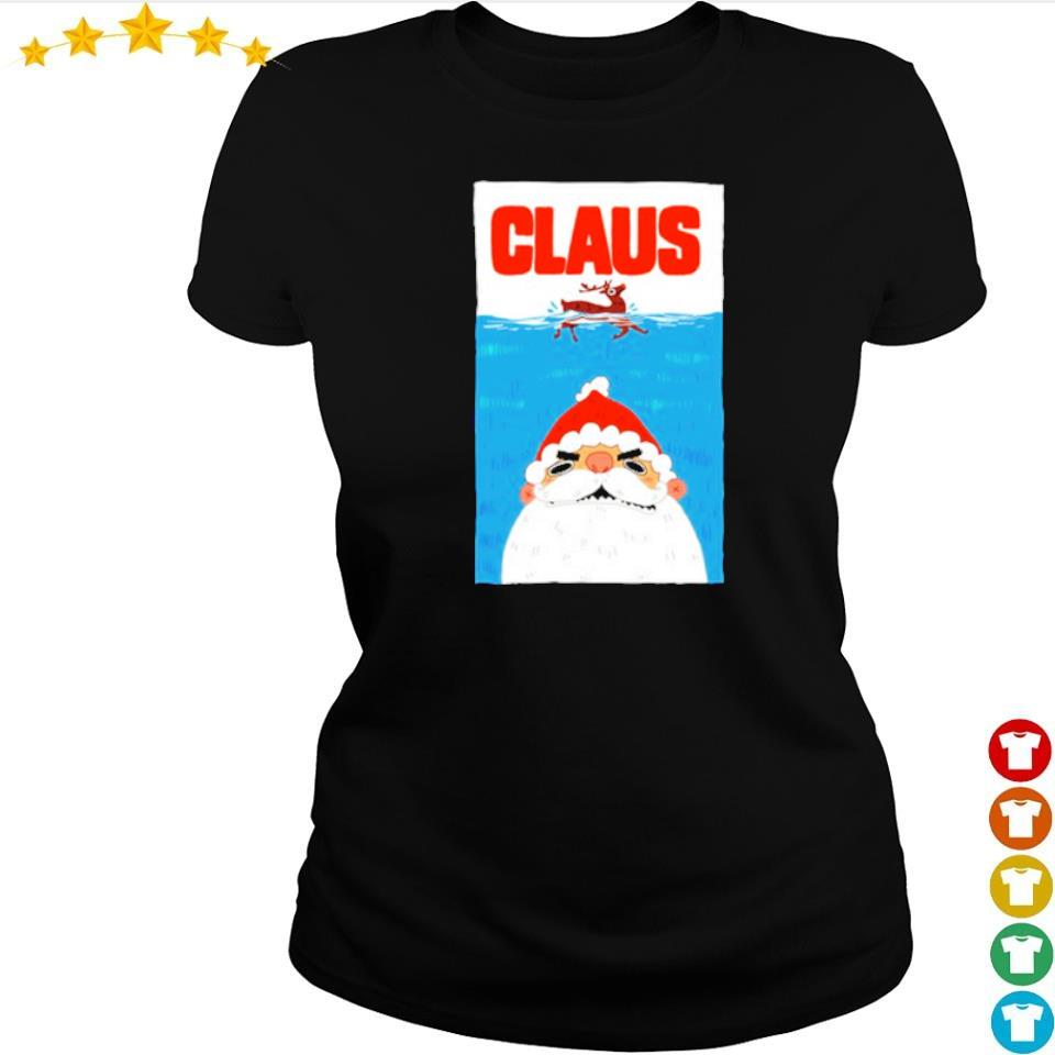 Santa Claus is coming merry Christmas sweater ladies tee