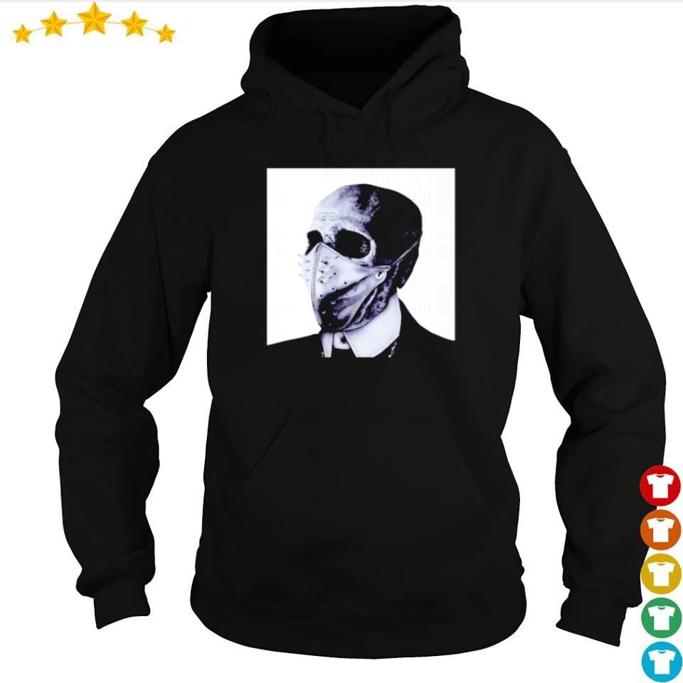 Scary skull wearing mask happy Halloween s hoodie