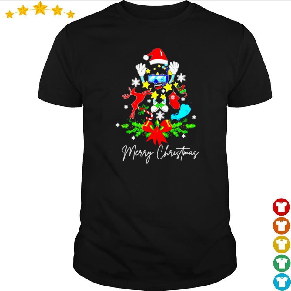 Scuba tree merry Christmas sweater shirt