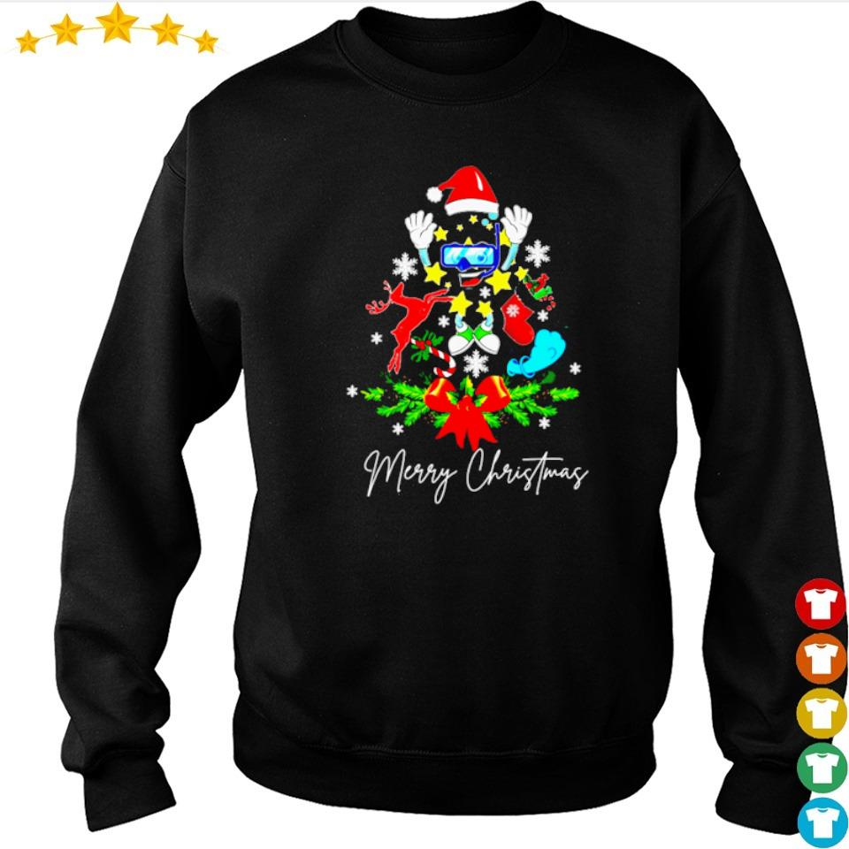 Scuba tree merry Christmas sweater