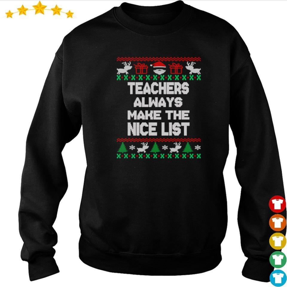 Teachers always make the nice list Christmas vintage sweater