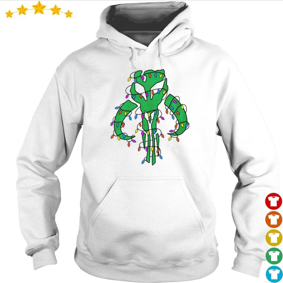 The Mandalorian happy Christmas sweater hoodie