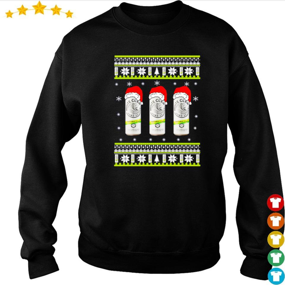 White claw natural lime merry Christmas sweater