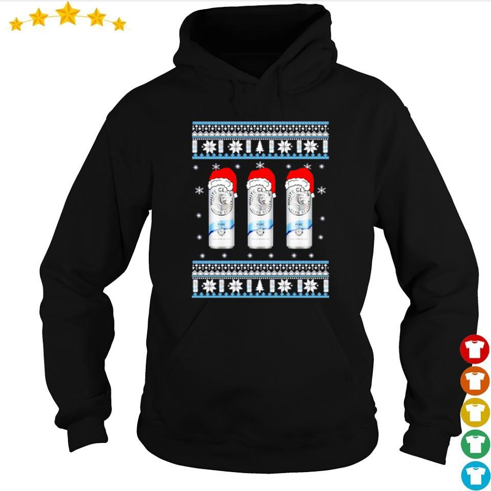 White claw pure merry Christmas sweater hoodie
