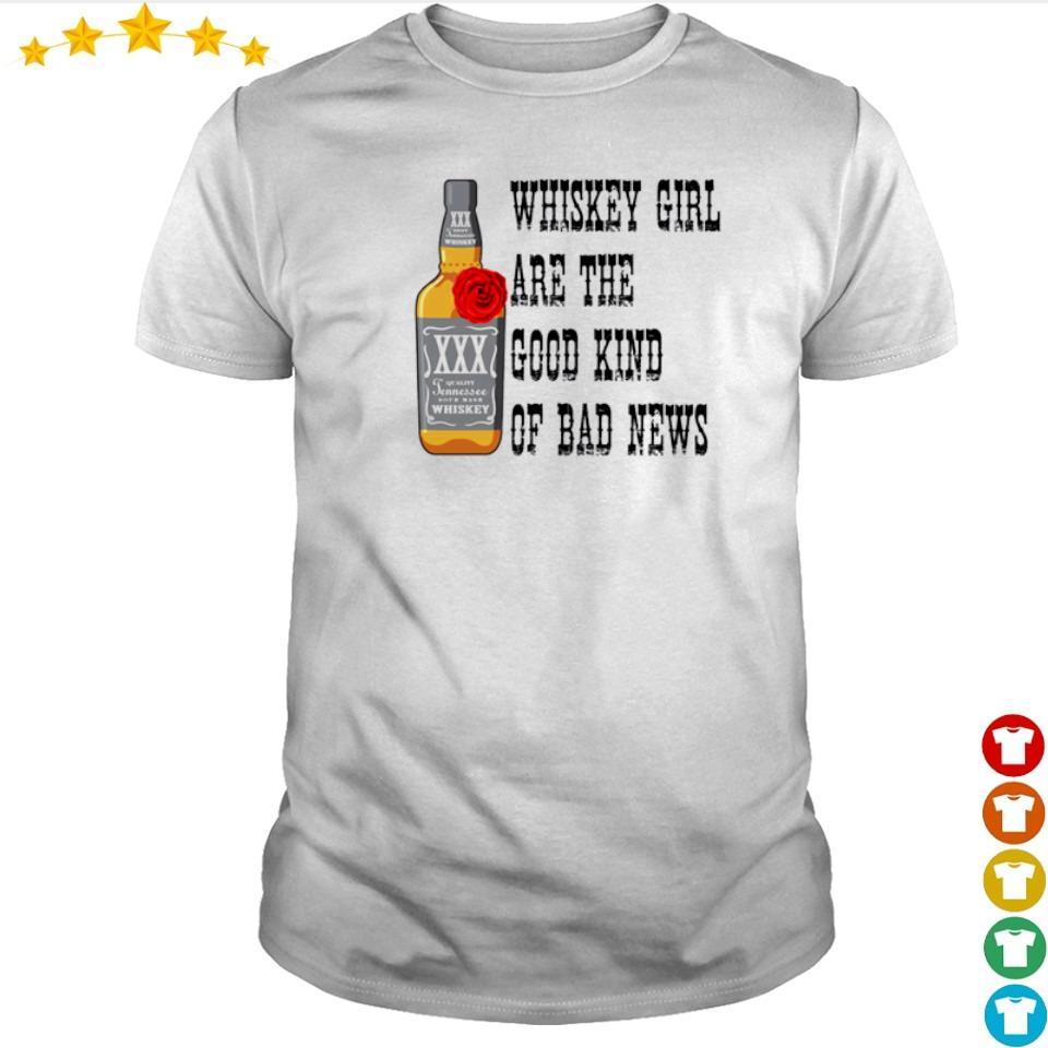 Wishkey girl are the good kind of bad news shirt
