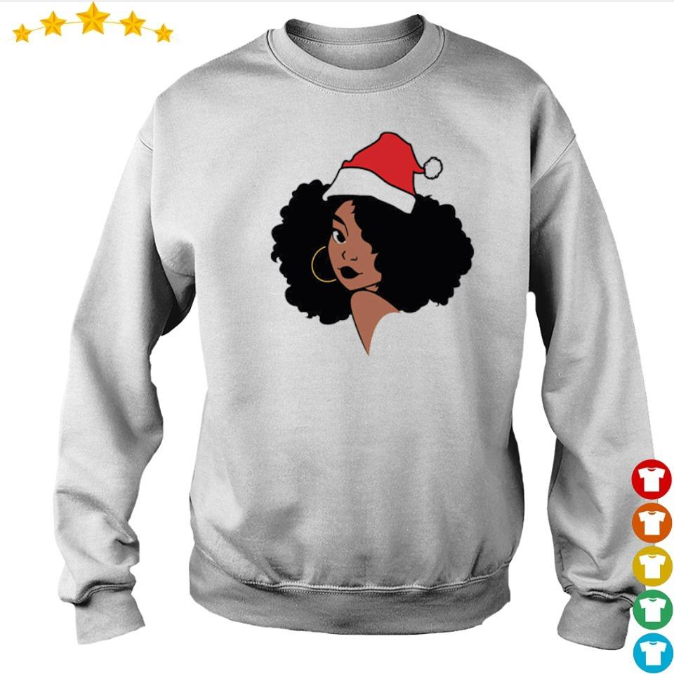 Black woman merry Christmas sweater