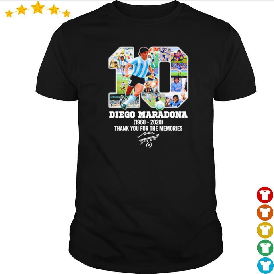 Diego Maradona number 10 thank you for the memories signature shirt