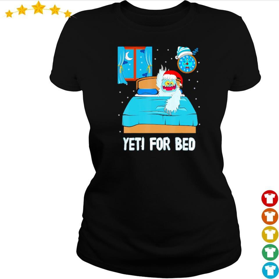 Yeti for bed merry Christmas sweater ladies tee