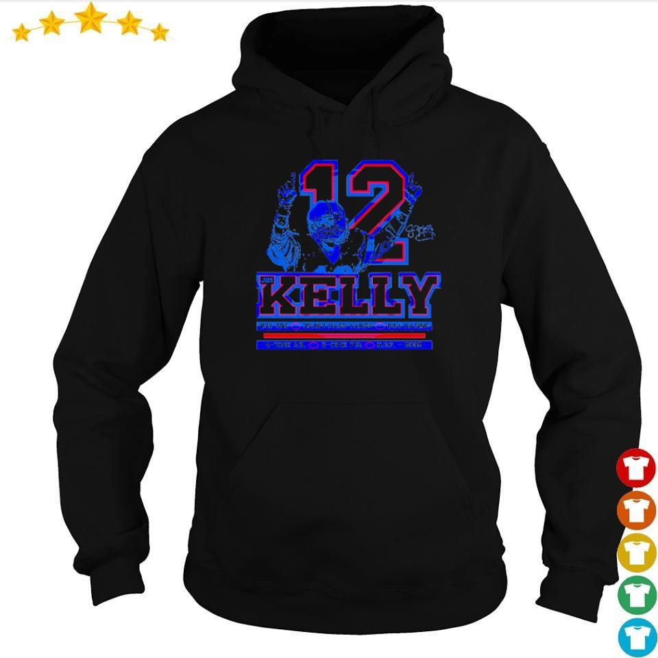 Buffalo Bills Jom Kelly number 12 237 TDS 35467 pass yards s hoodie