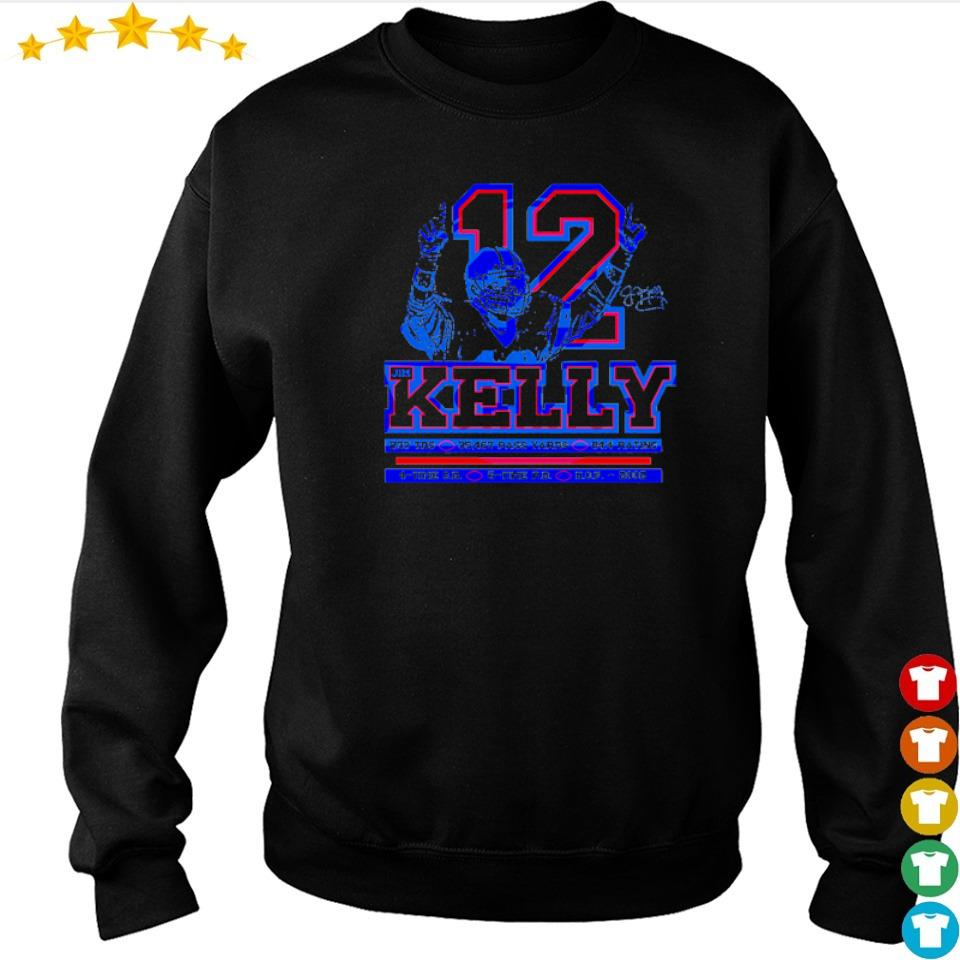 Buffalo Bills Jom Kelly number 12 237 TDS 35467 pass yards shirt