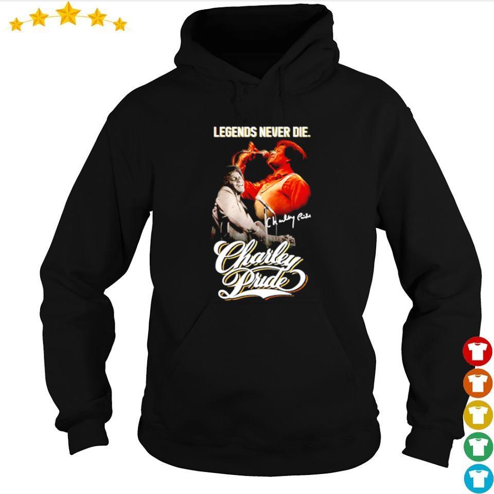 Charley Pride legends never die signature s hoodie