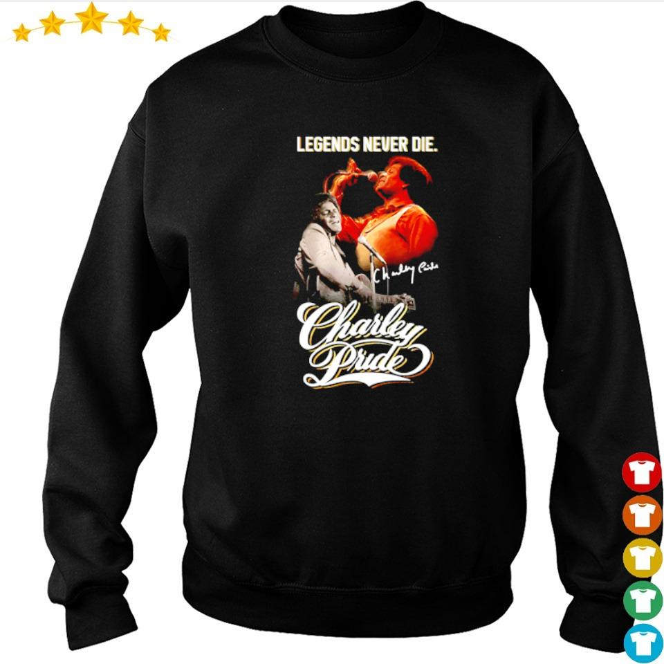 Charley Pride legends never die signature shirt