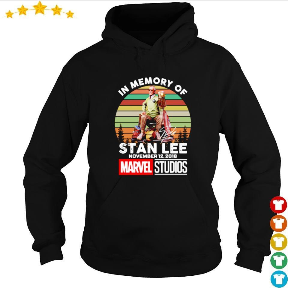 In memory of Stan Lee november 12 2018 Marvel Studios signature vintage s hoodie