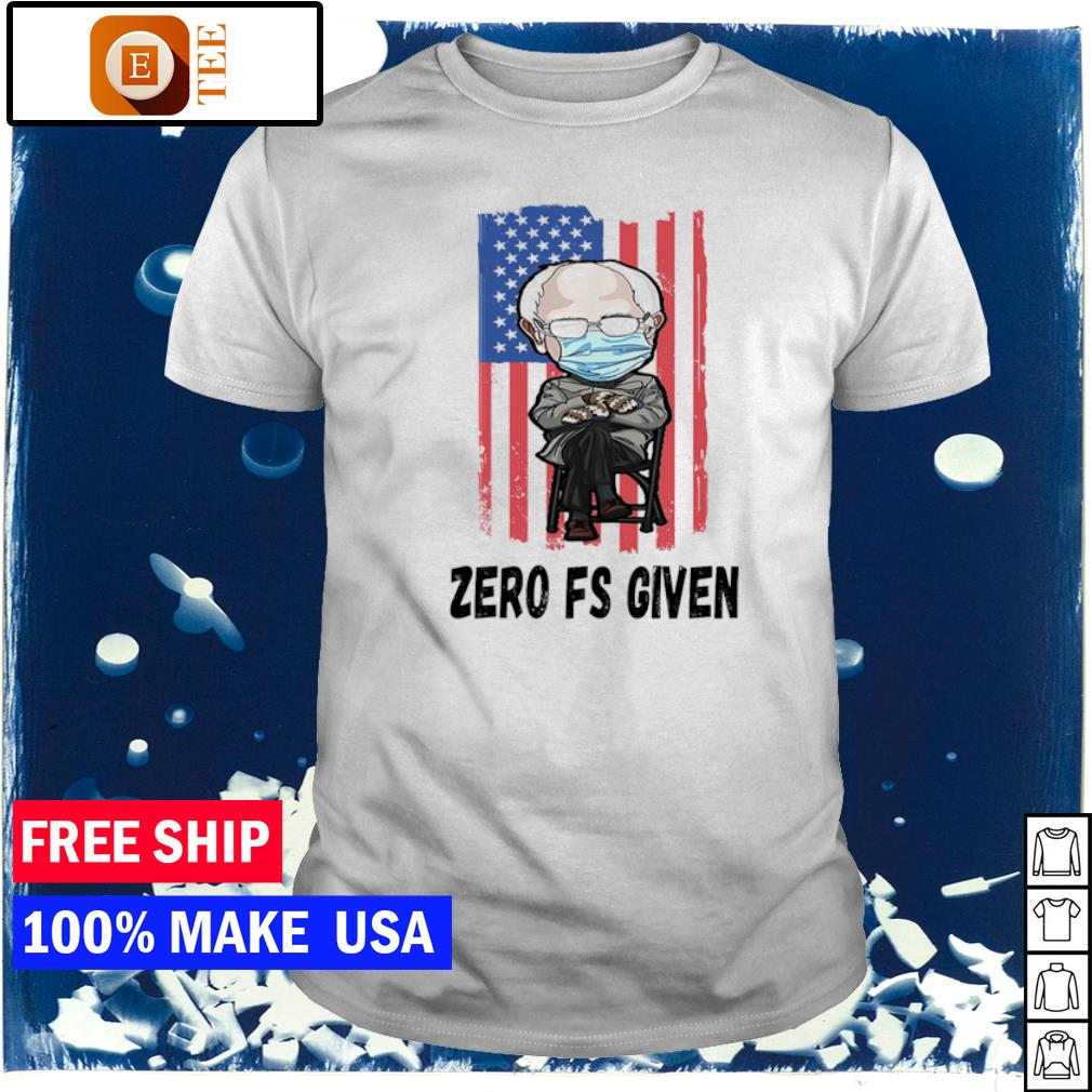 Inauguration day zero fs given American Flag Bernie Sanders Mittens shirt