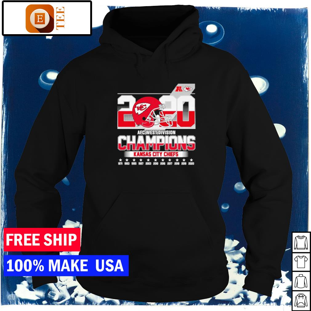 Kansas City Chiefs 2020 AFC West Division Champions 1971 to 2020 s hoodie
