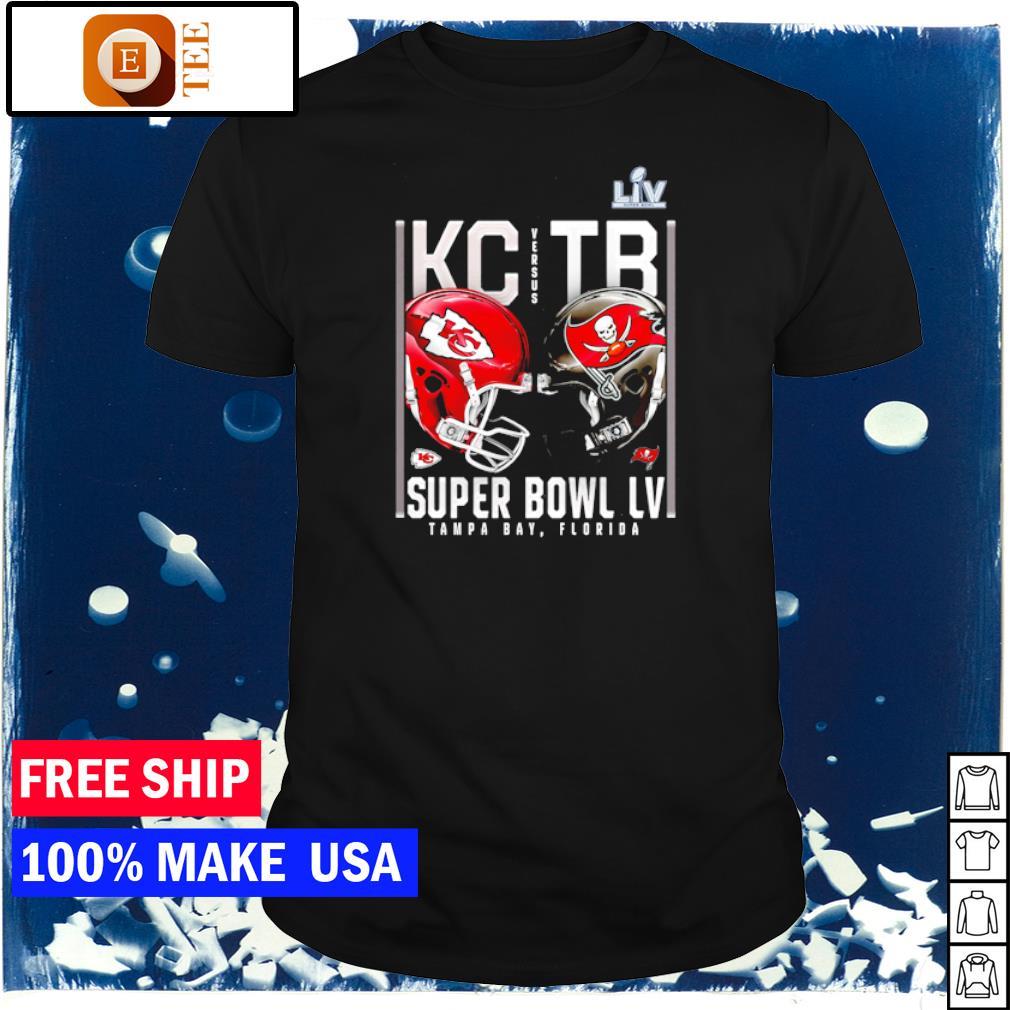 Kansas City Chiefs vs Tampa Bay Buccaneers Super Bowl LV Matchup shirt