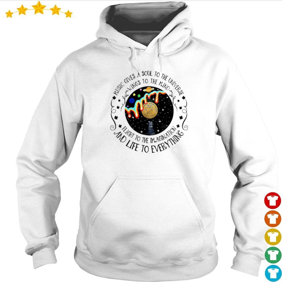 Music gives a soul to the universe wings to the mind vintage s hoodie