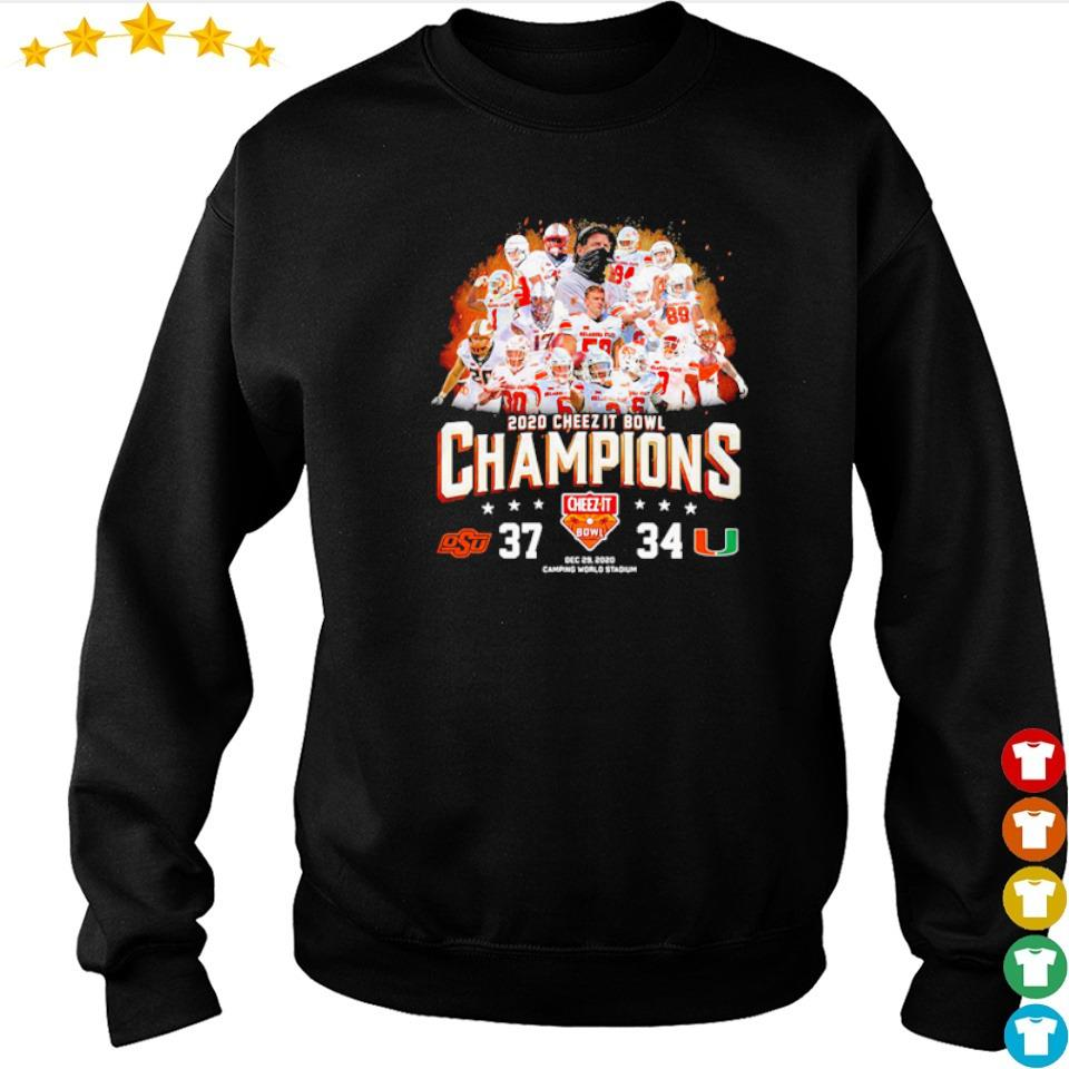 Oklahoma State 2020 cheez it bowl champions shirt